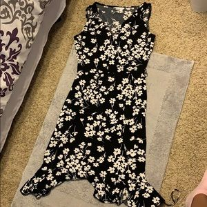 London Times floral dress black and white sz 4